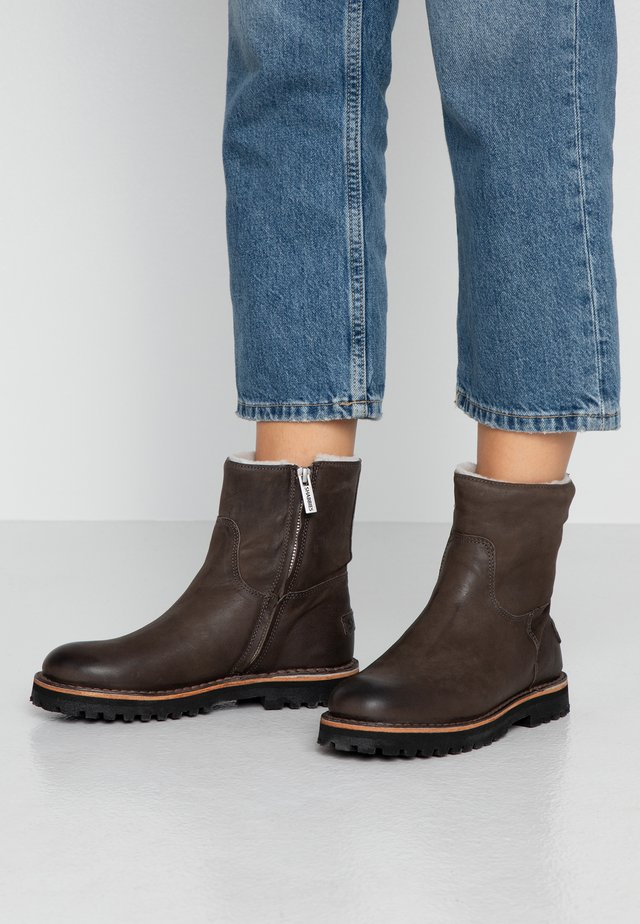 Platform ankle boots - anthrazit