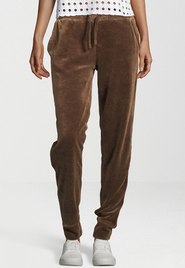 Tracksuit bottoms - taupe