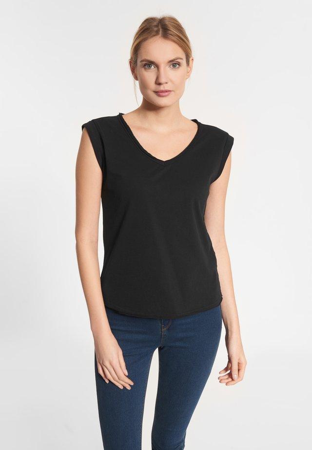 CATANIA - Basic T-shirt - black