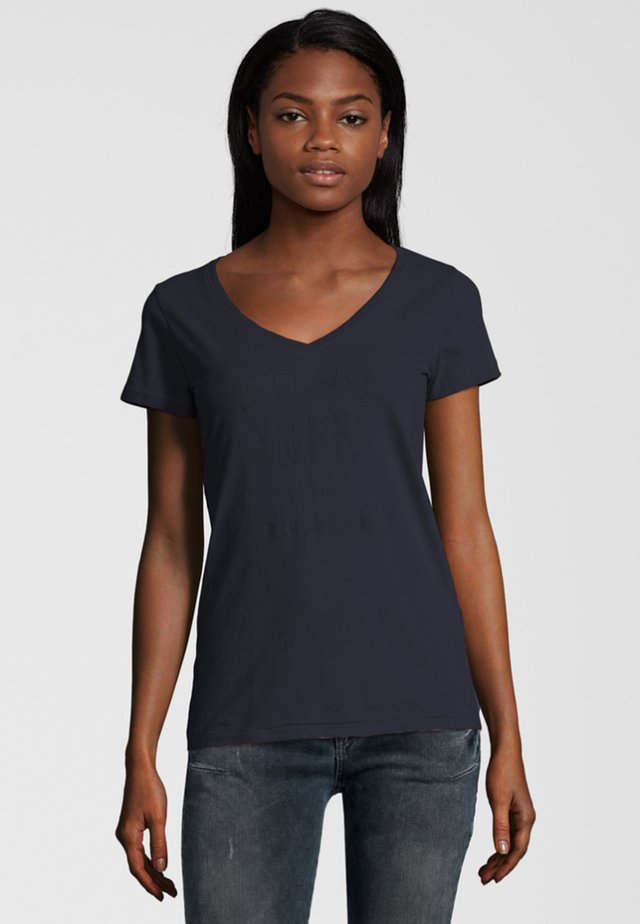 MARINA - Print T-shirt - dark blue