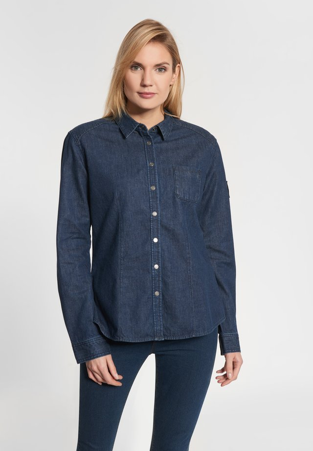 Button-down blouse - denim