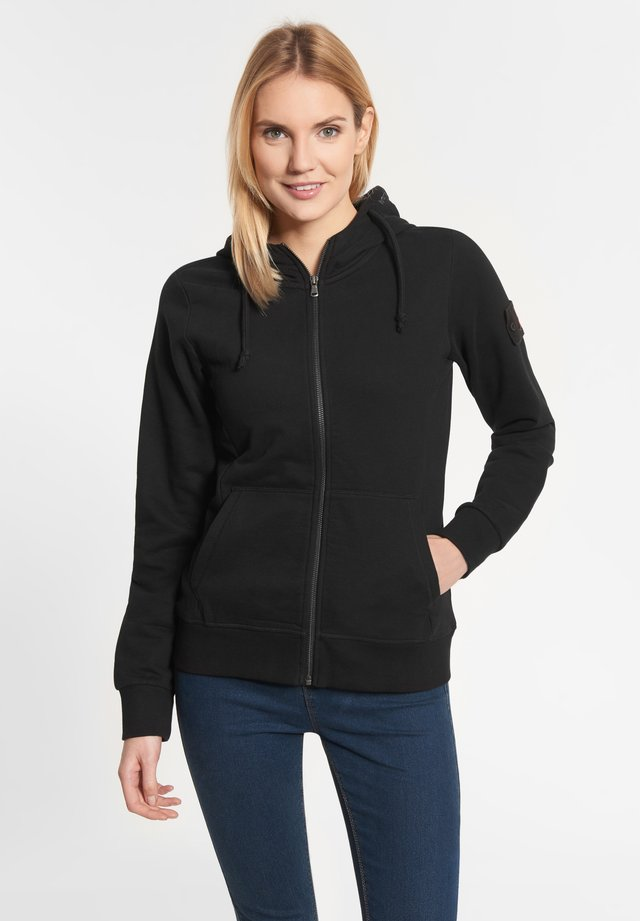 LEA - Zip-up hoodie - black