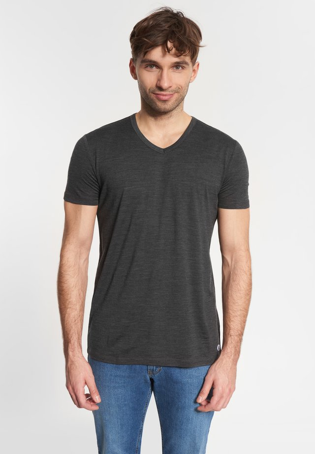 MERINO - Basic T-shirt - anthracite