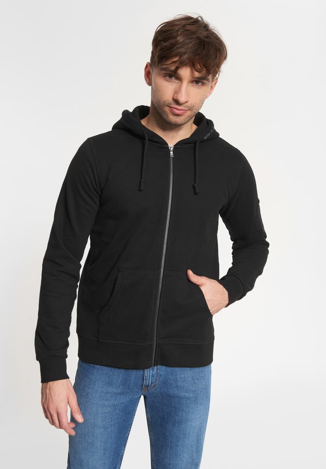ELIAS - Zip-up hoodie - black