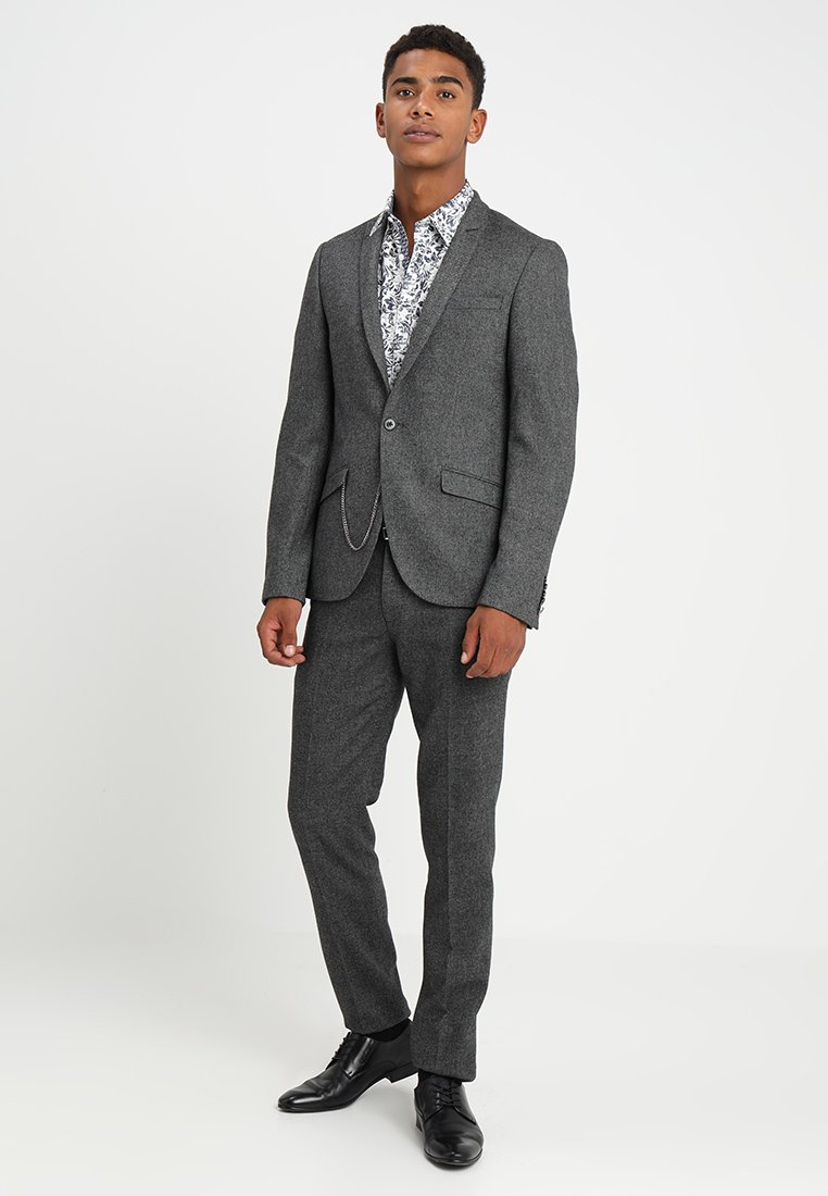 Shelby & Sons - DUNFERMLINE SUIT SLIM FIT - Anzug - mottled dark grey