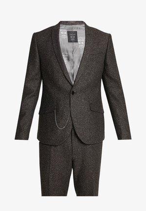 BUCKLAND SUIT - Oblek - dark brown