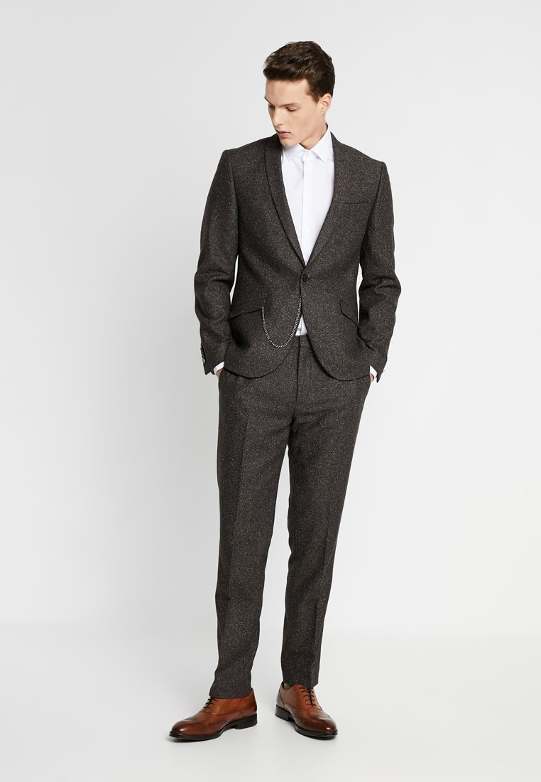 Shelby & Sons - BUCKLAND SUIT - Anzug - dark brown