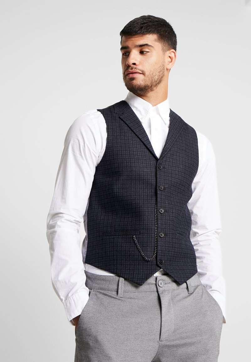 Shelby & Sons - BARTLEY WAISTCOAT - Weste - charcoal