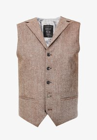 Shelby & Sons - CRANBROOK WAISTCOAT - Waistcoat - light brown - 4