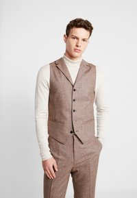 Shelby & Sons - CRANBROOK WAISTCOAT - Waistcoat - light brown - 0