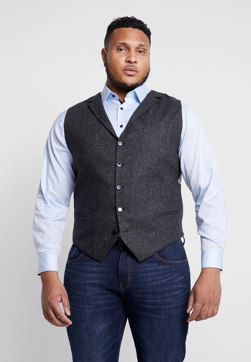 Shelby & Sons - CRANBROOK WAISTCOAT PLUS - Vesta - charcoal