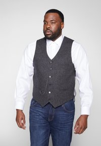 Shelby & Sons - SIDCUP WAISTCOAT PLUS - Vesta - charcoal - 0