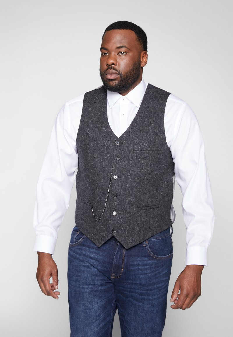 Shelby & Sons - SIDCUP WAISTCOAT PLUS - Vesta - charcoal