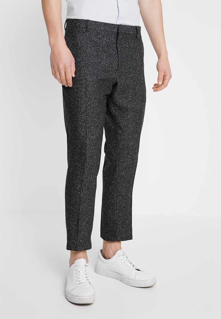 Shelby & Sons - GIB TAPERED - Trousers - charcoal