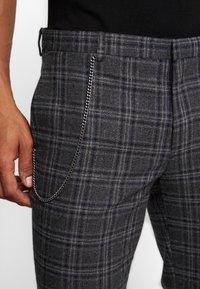 Shelby & Sons - SALTLEY TURN UP  - Pantalones - grey - 5