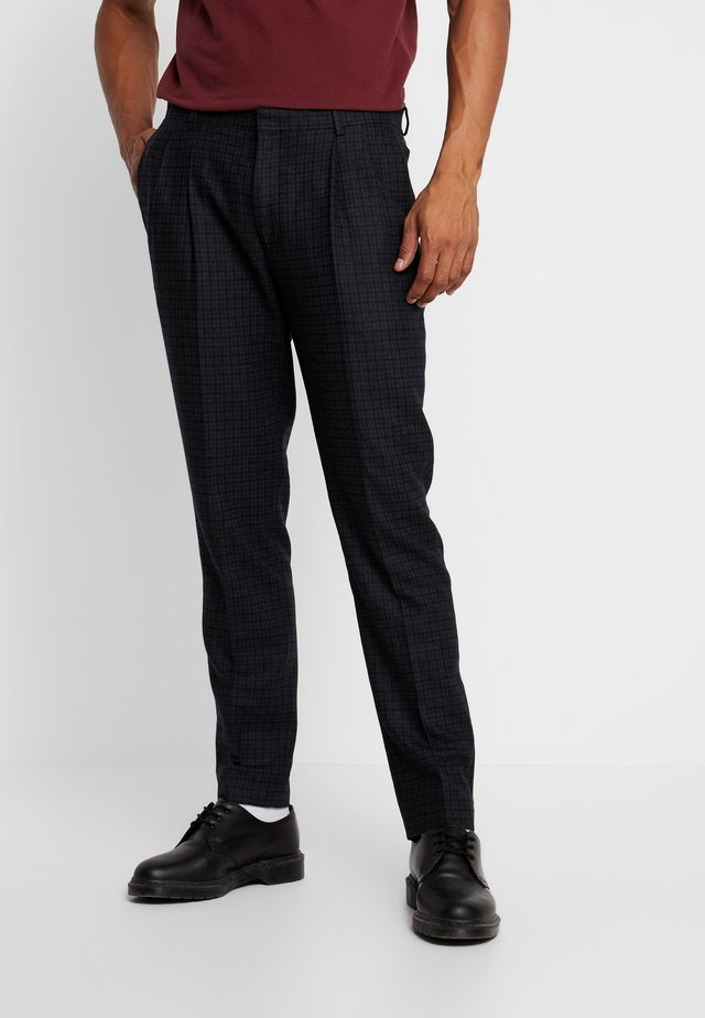 WARD PLEATED - Trousers - charcoal