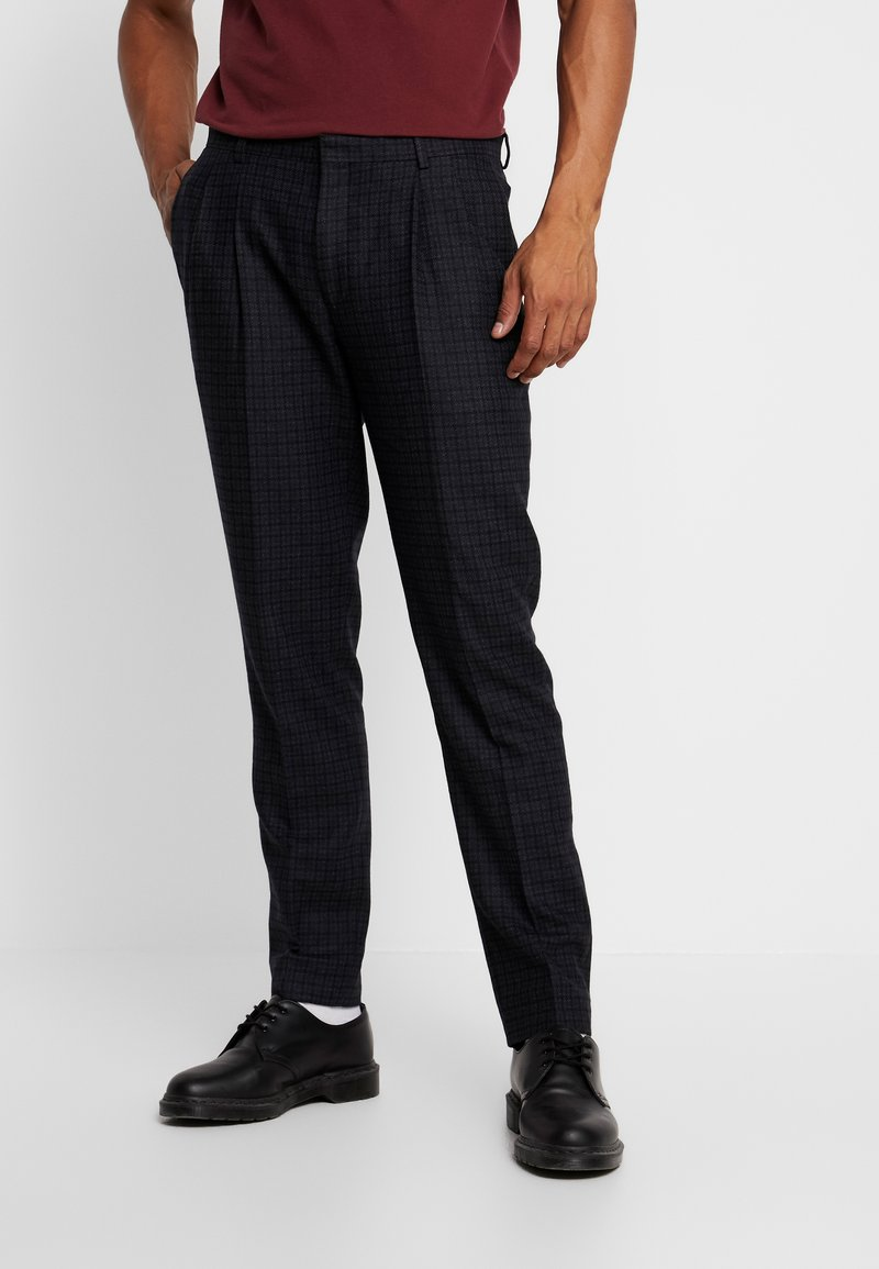 Shelby & Sons - WARD PLEATED - Trousers - charcoal