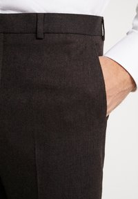 Shelby & Sons - THIRSK TROUSER - Kalhoty - dark brown - 4
