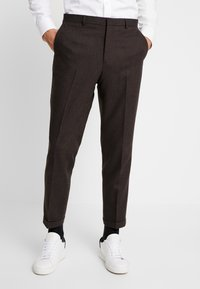 Shelby & Sons - THIRSK TROUSER - Kalhoty - dark brown - 0