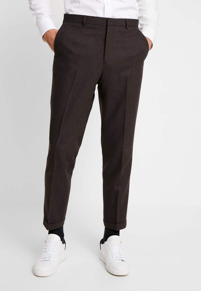 Shelby & Sons - THIRSK TROUSER - Kalhoty - dark brown