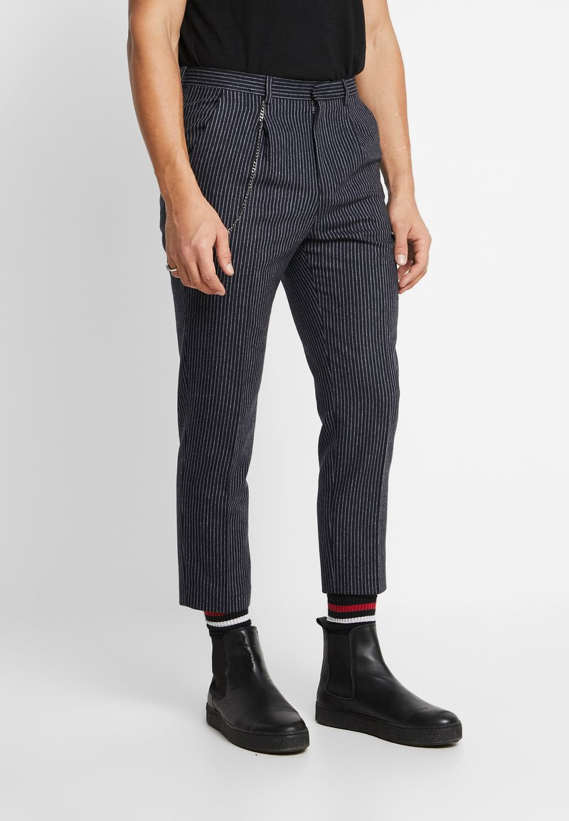 Shelby & Sons - BRIGG TROUSER - Trousers - navy