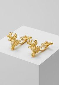 Shelby & Sons - IKE - Manžetové knoflíčky - shiny gold-coloured - 0