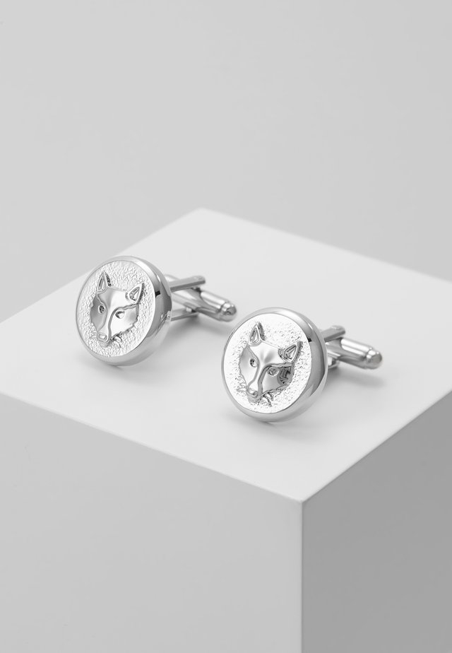 FOX CUFFLINK - Spinka do mankietów - silver-coloured