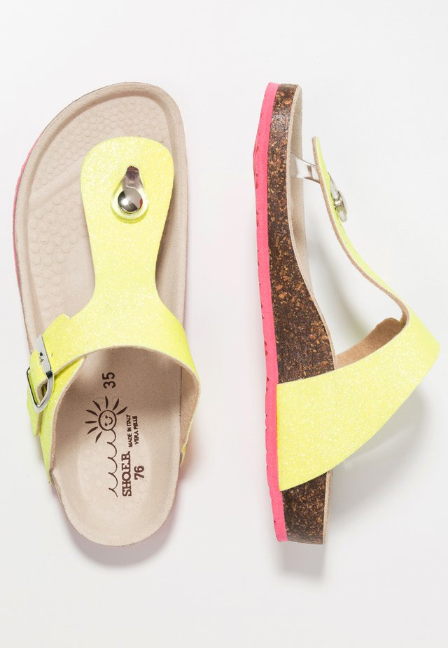 T-bar sandals - fluo yellow