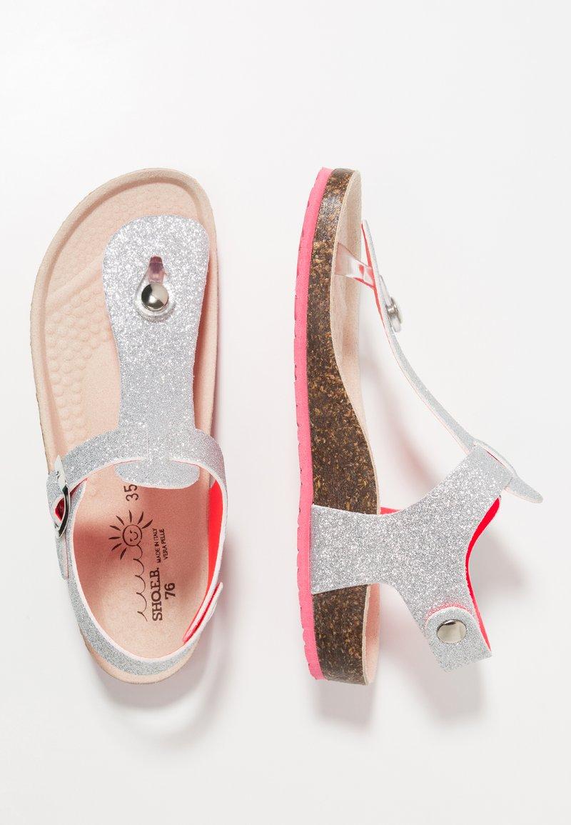 shoeb76 - T-bar sandals - glitter silver