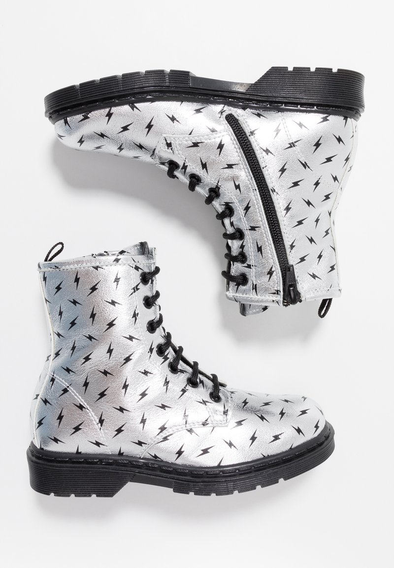 shoeb76 - Lace-up ankle boots - silver