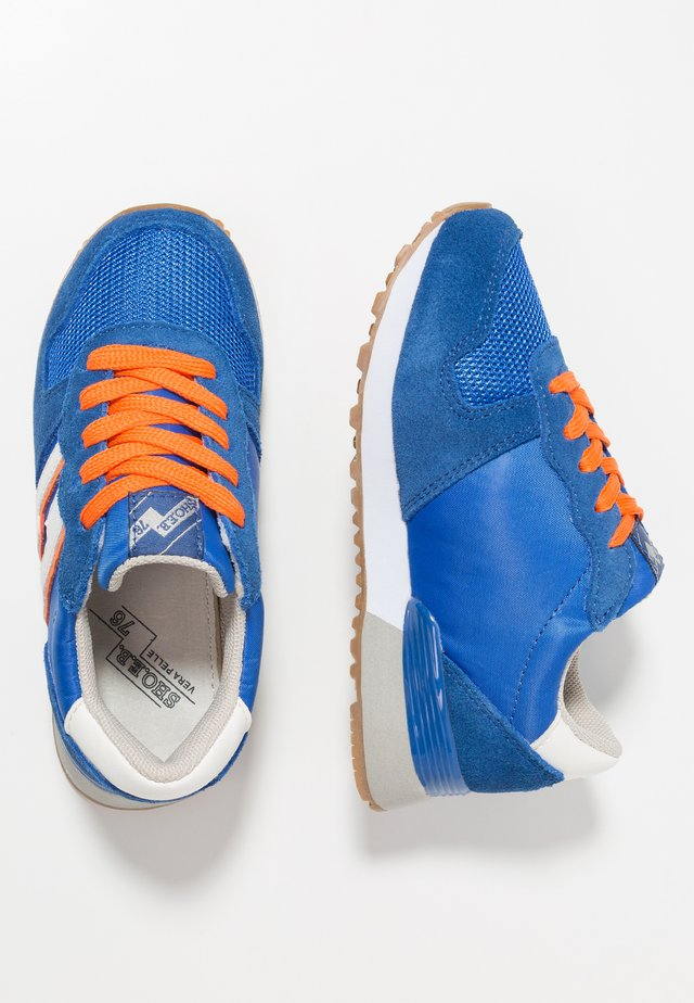 Sneakers - blue/orange/white