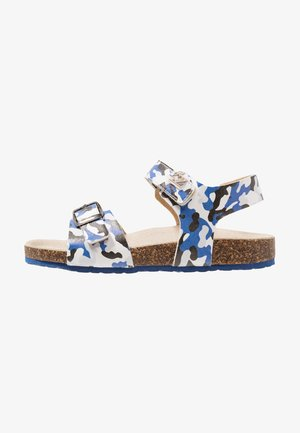 Riemensandalette - mimetic blue/white