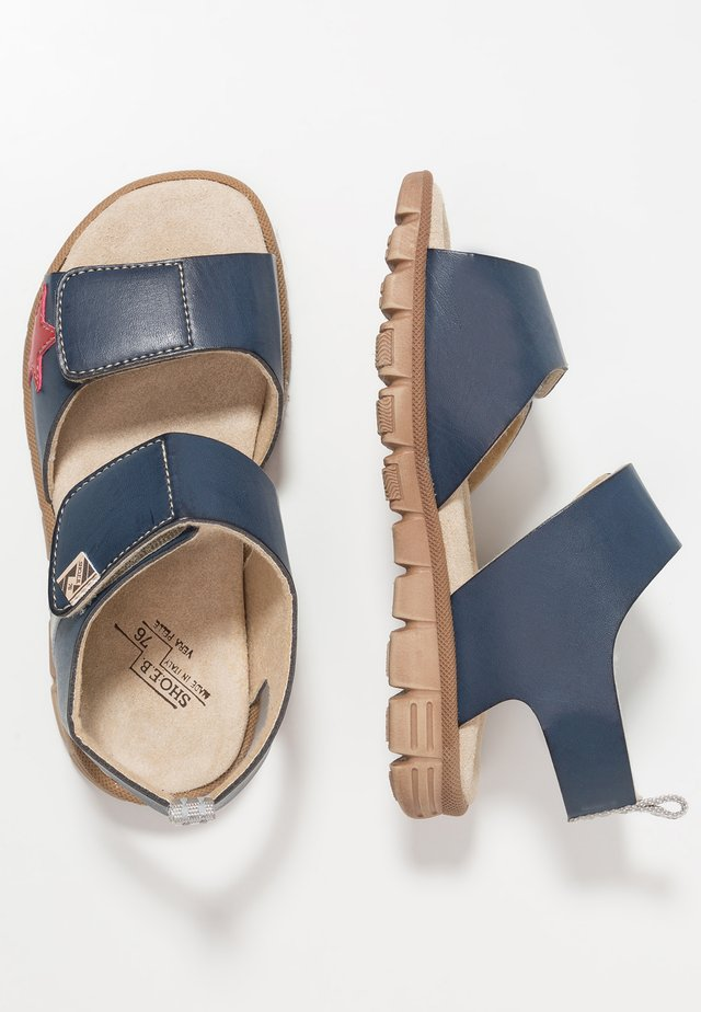 Walking sandals - blue/grey/red