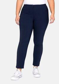 Sheego - HOSE - Trousers - dark blue - 0