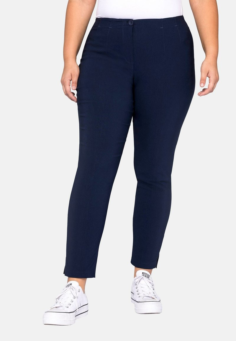 Sheego - HOSE - Trousers - dark blue