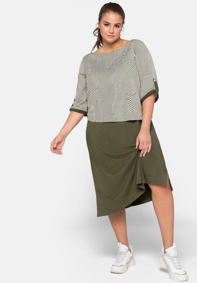 Korte jurk - dark khaki