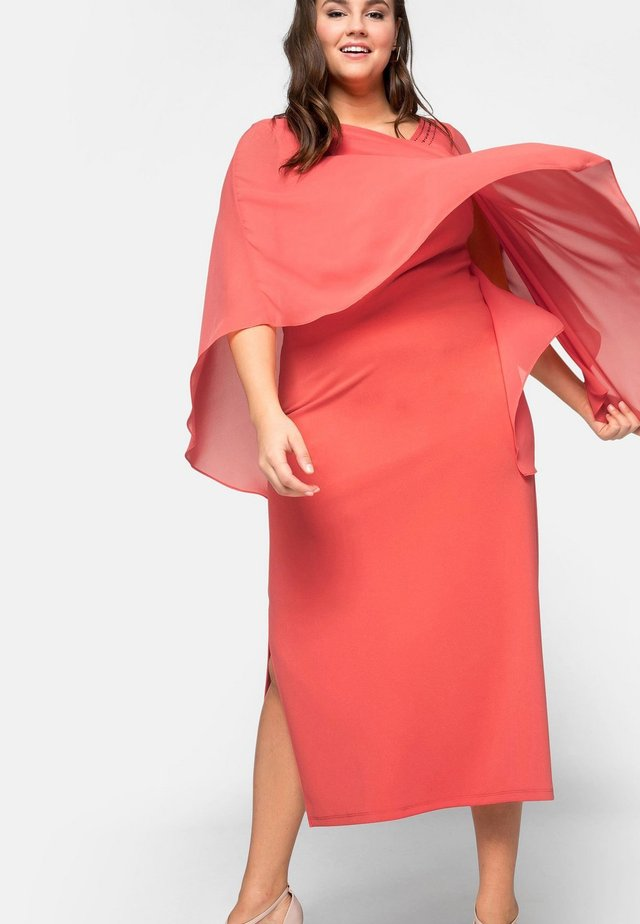 Cocktail dress / Party dress - coral