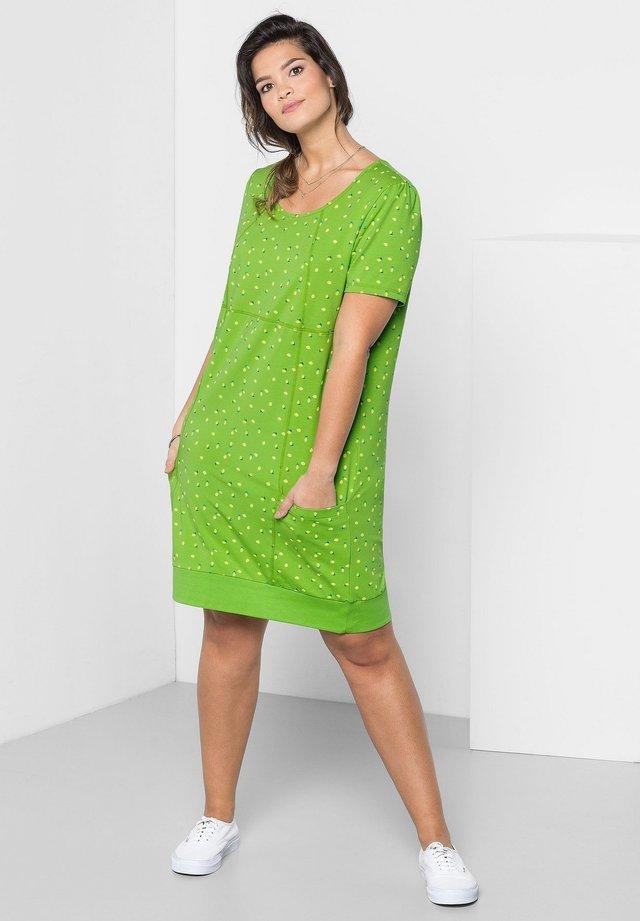 Korte jurk - kiwi