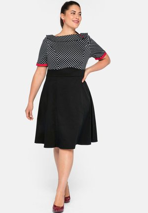 Day dress - schwarz bedruckt
