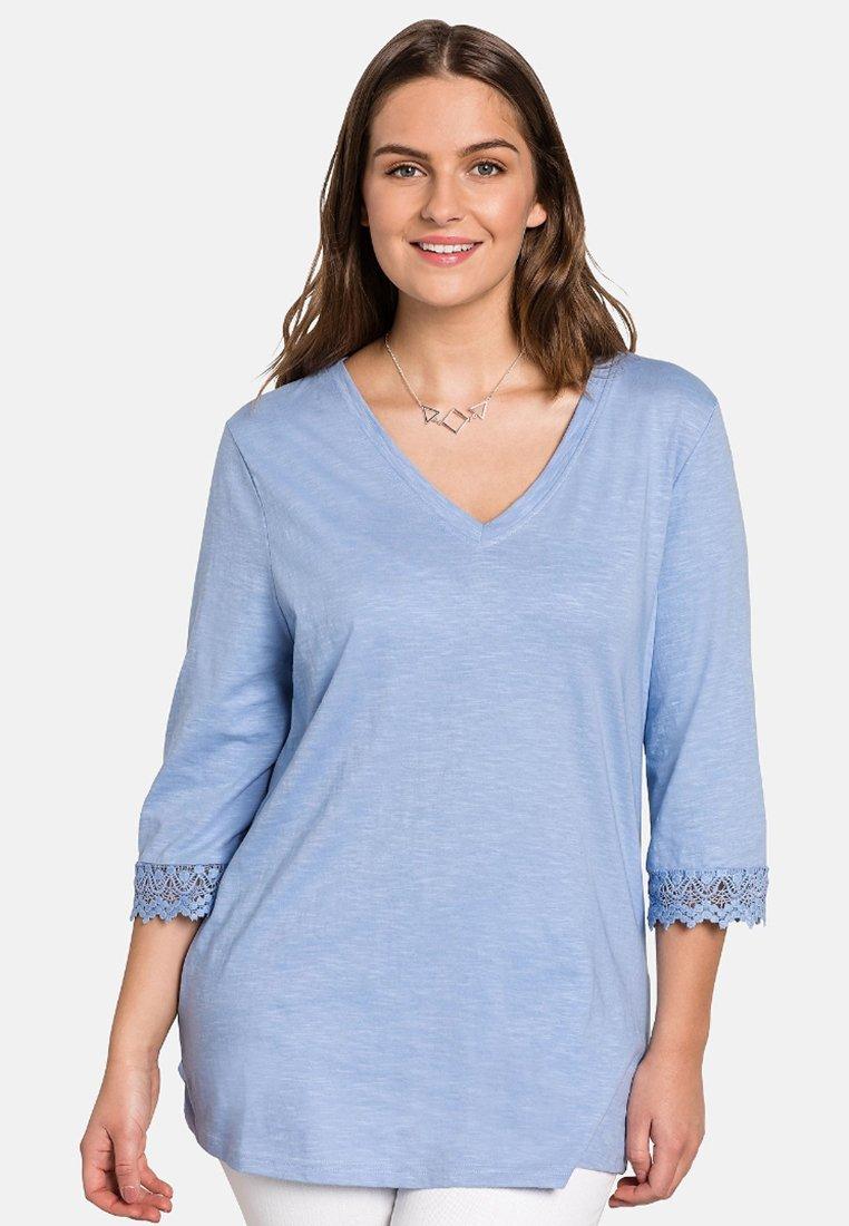 Sheego - Langarmshirt - light blue