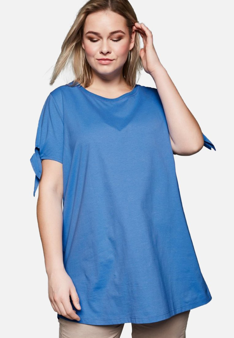 Sheego - Basic T-shirt - azure