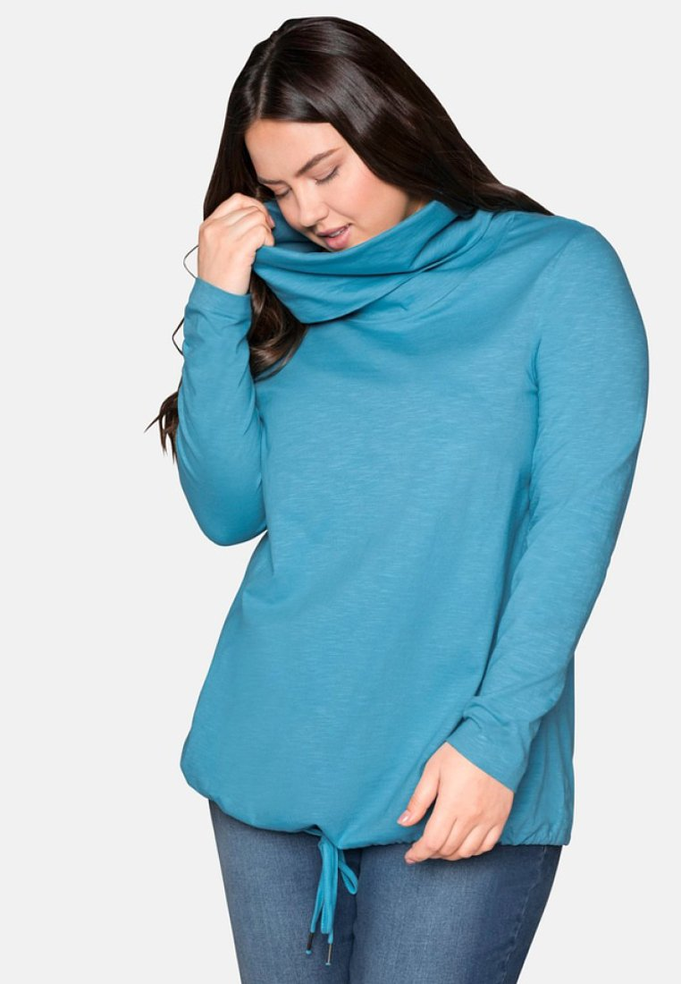 Sheego - Long sleeved top - turquoise