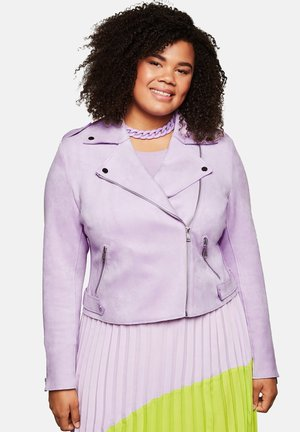 Faux leather jacket - lilac