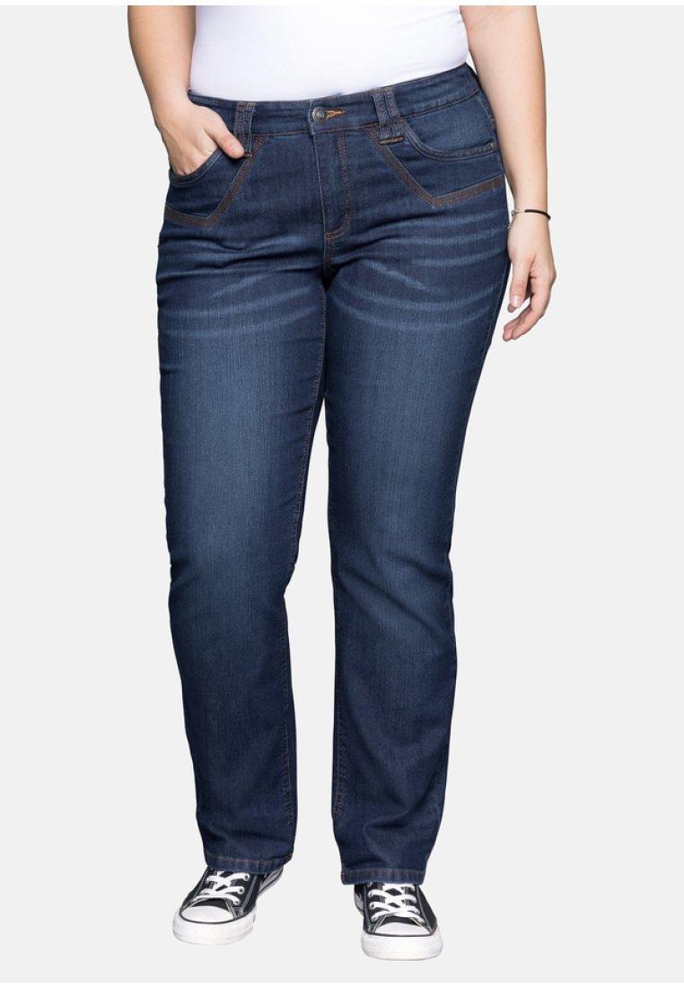 Sheego - Flared Jeans - blue denim