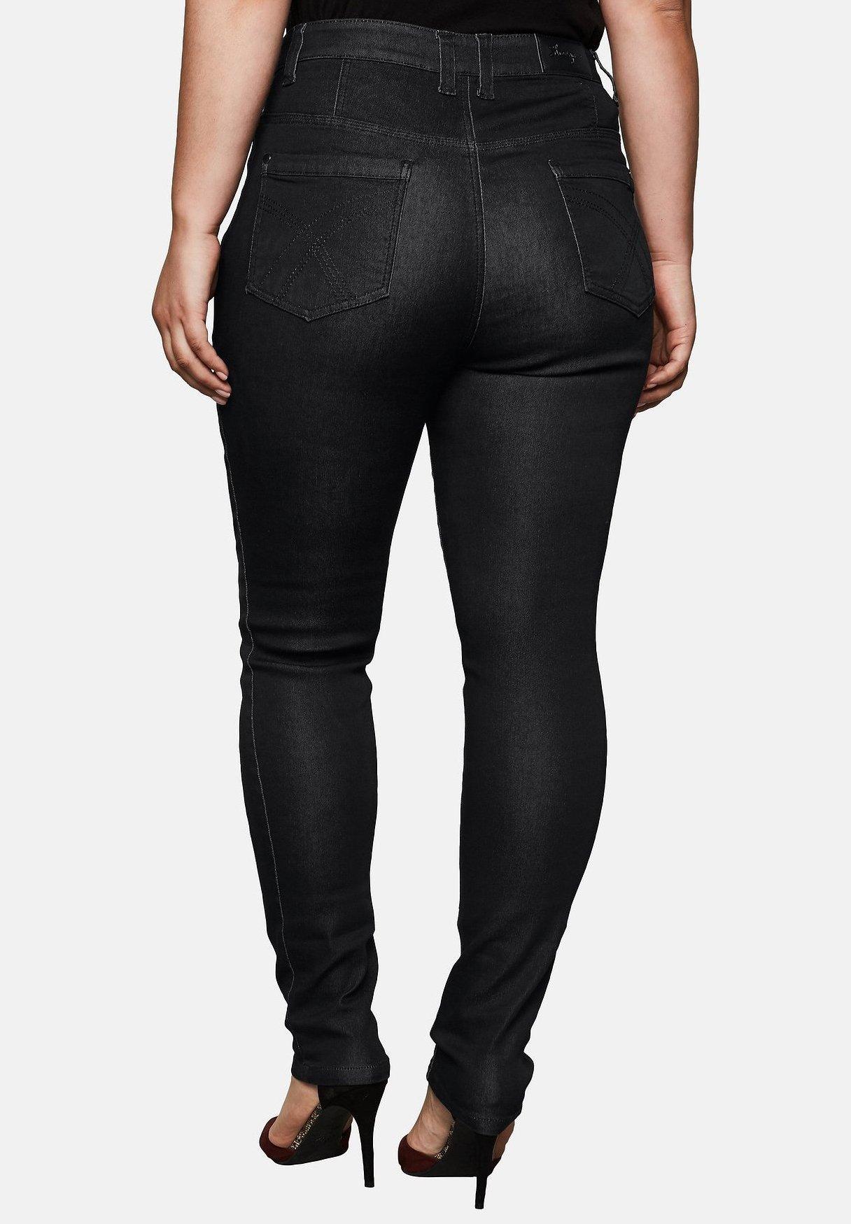 Sheego Jeans Skinny Fit Black Denim xVtEp7Ge