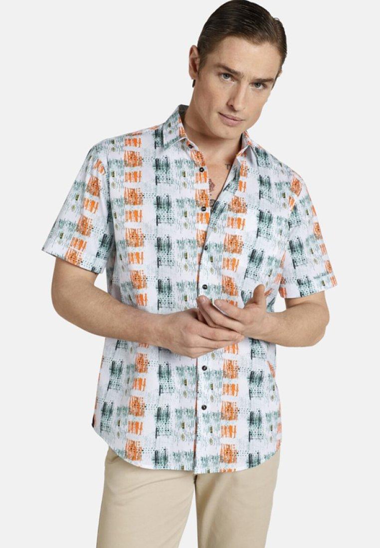 SHIRTMASTER - I COULD BE ART - Shirt - white/orange