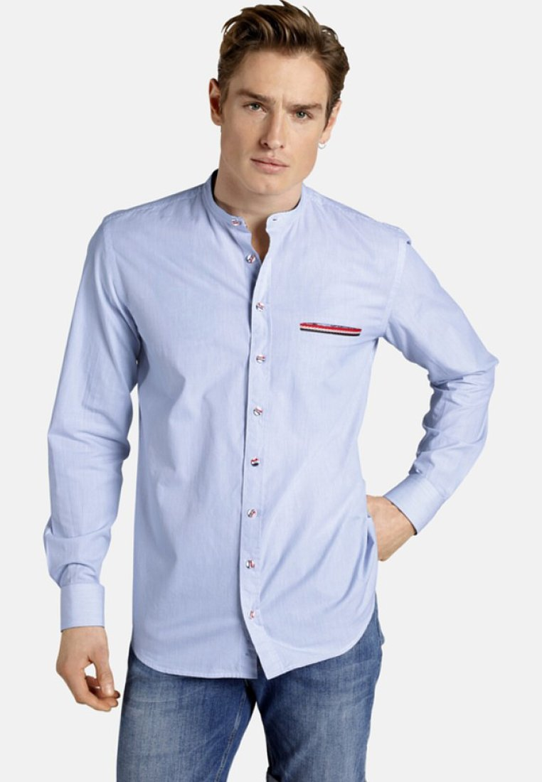 SHIRTMASTER - FRENCHSHIRT - Shirt - light blue/white