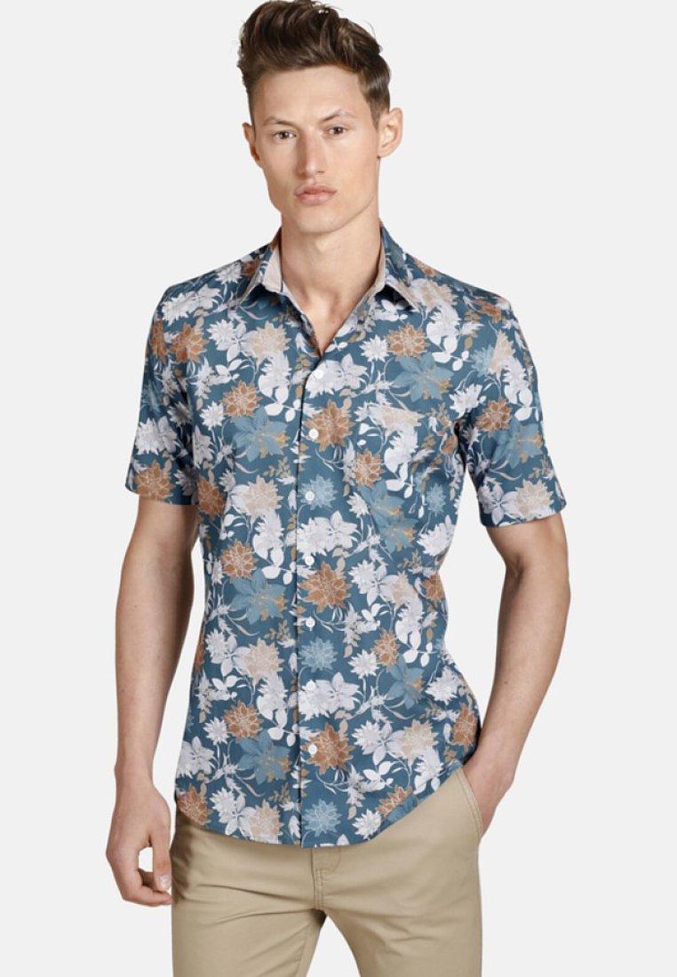 SHIRTMASTER - ICEFLOWERS - Shirt - blue/beige