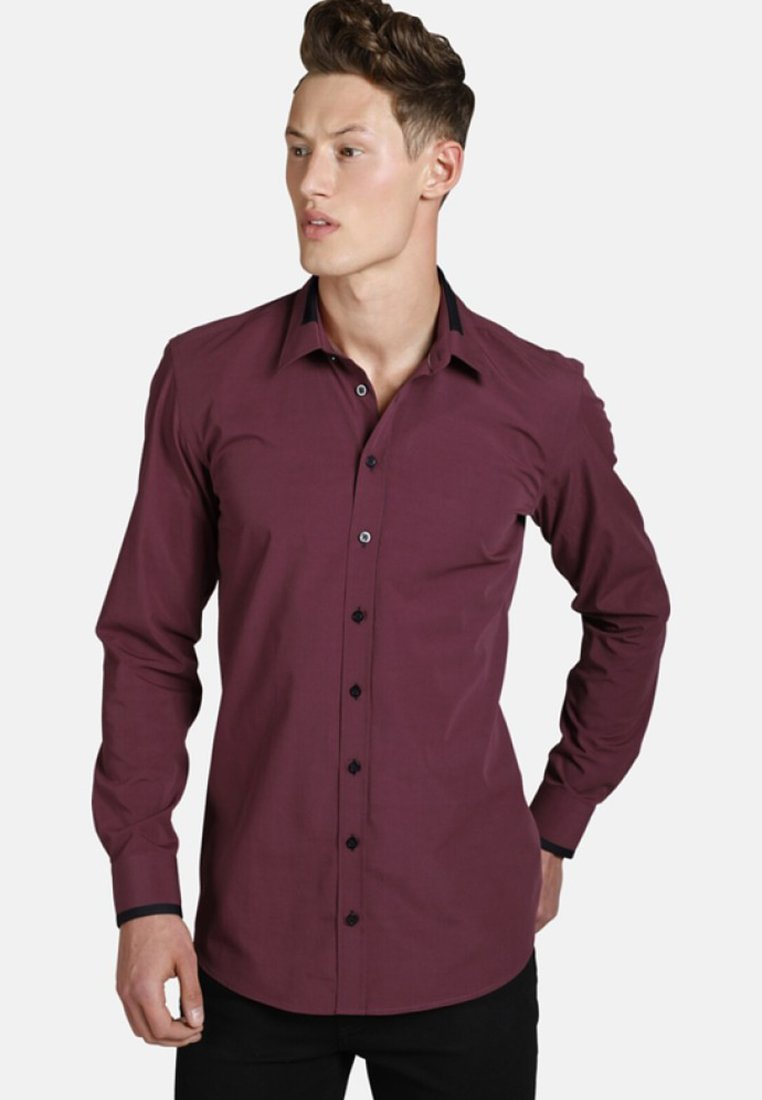 SHIRTMASTER - TIMEFORWINE - Shirt - dark red