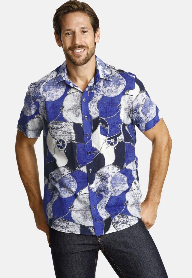 AROUNDTHEWORLD - Shirt - blue